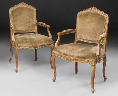 A pair of stained beech and up