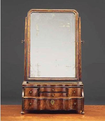 A walnut toilet mirror