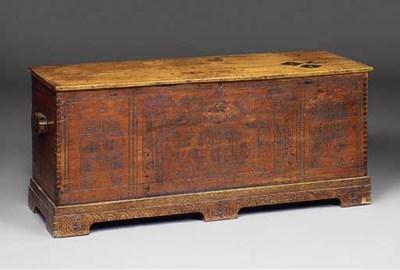 A carved cedar chest