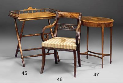 A Regency mahogany and brass i