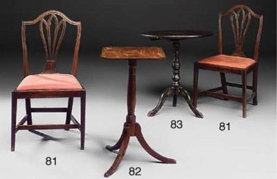 A set of George III mahogany d