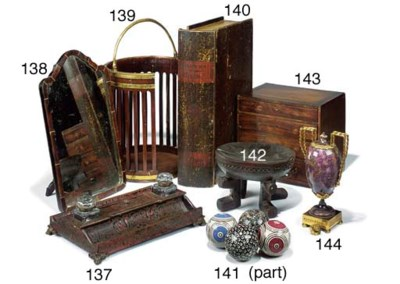 A REGENCY MAHOGANY COLLECTORS