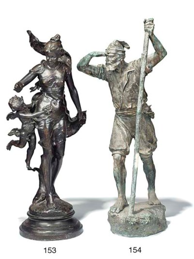 A FRENCH SPELTER GROUP OF VENU