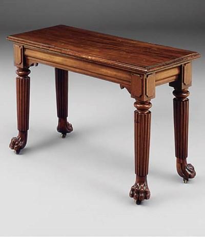 A mahogany hall table