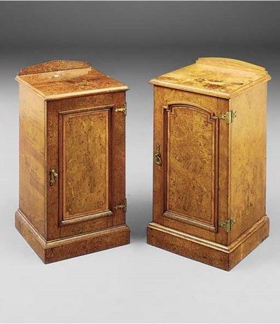 A pair of Victorian burr oak b