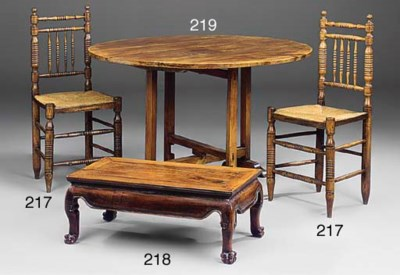 A French walnut wine table