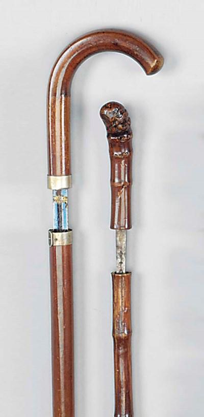 A late Victorian malacca sword