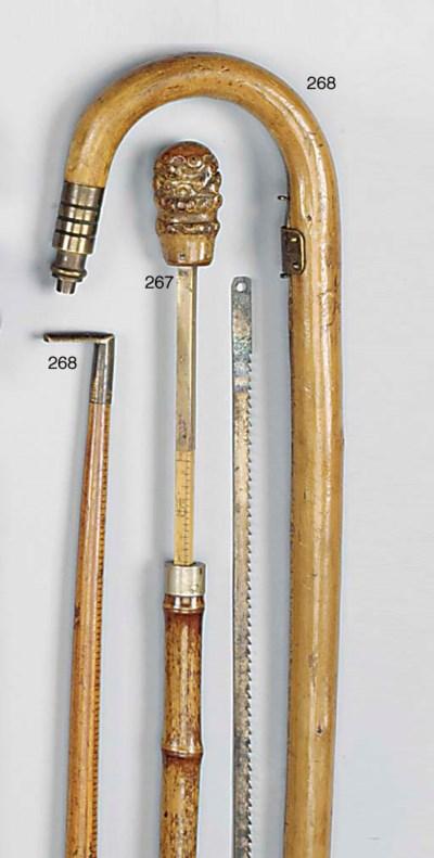 An Edwardian bamboo 'gadget' h