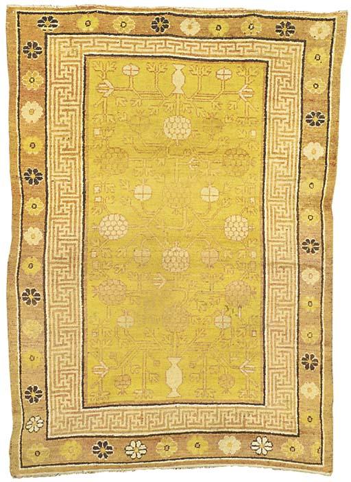 A Khotan rug, East Turkestan