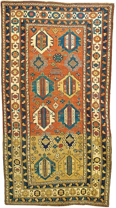 An unusual antique Shirvan rug
