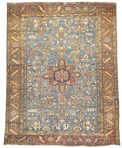 An antique Heriz carpet, North-West Persia