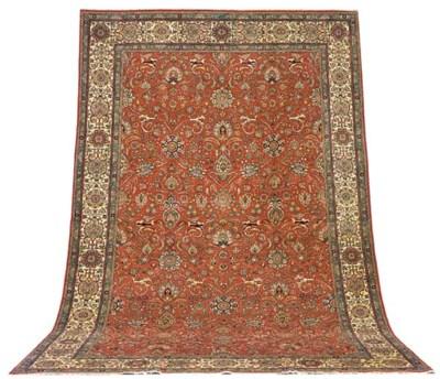 A fine Moradi Tabriz carpet, N
