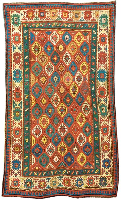 An antique Kazak rug, South Ca