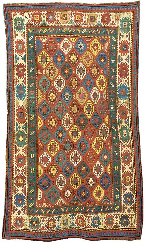 An antique Kazak rug, South Caucasus