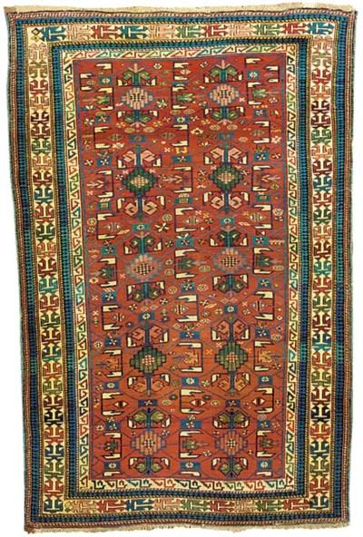 An antique Kuba rug, East Cauc