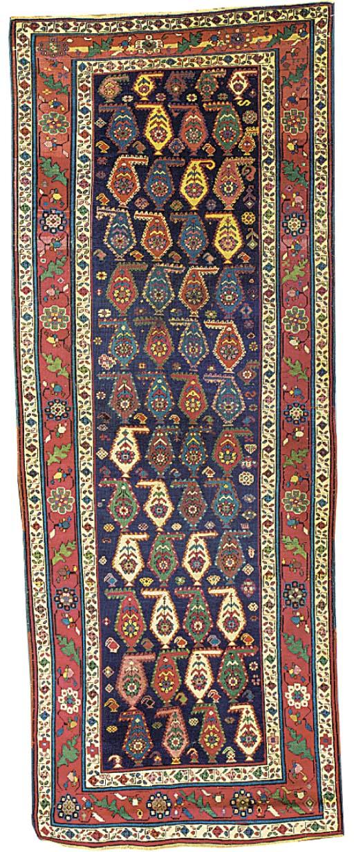 An antique Karabagh long rug, South Caucasus