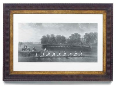 A rowing eight on the Thames