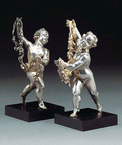 Two English silver figures of