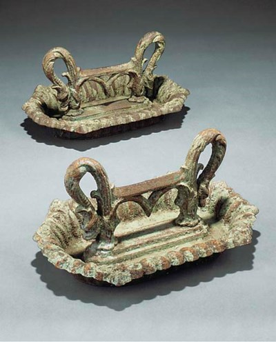 A pair of Victorian painted ir