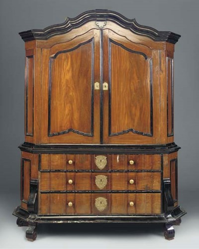 A DUTCH COLONIAL ROSEWOOD AND