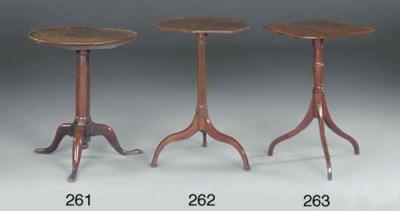 AN ELM TRIPOD TABLE