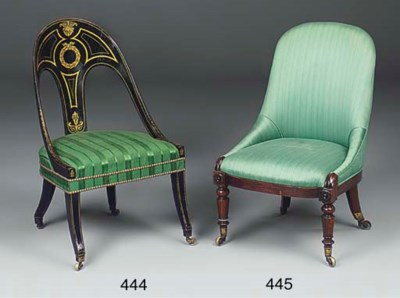 A REGENCY EBONISED AND PARCEL
