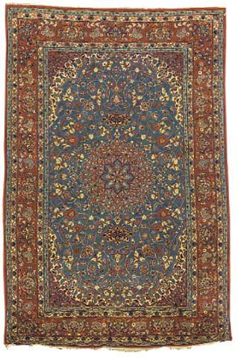 A very fine part silk Isfahan