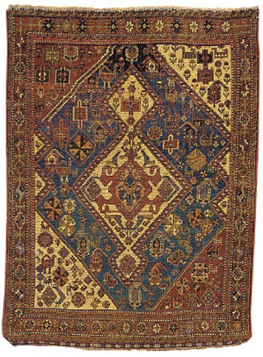 An antique Qashqai rug
