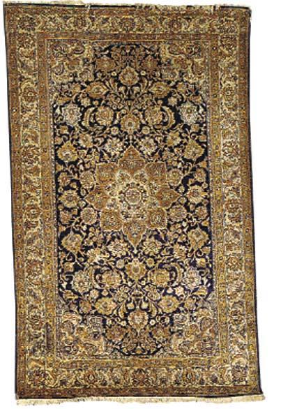 A fine silk Keyseri rug