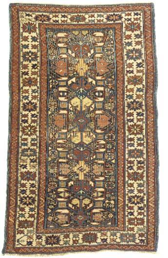 An antique Kuba rug