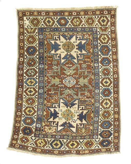 An antique Lesghi rug