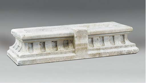 A MARBLE PLANTER OR WALL FOUNT