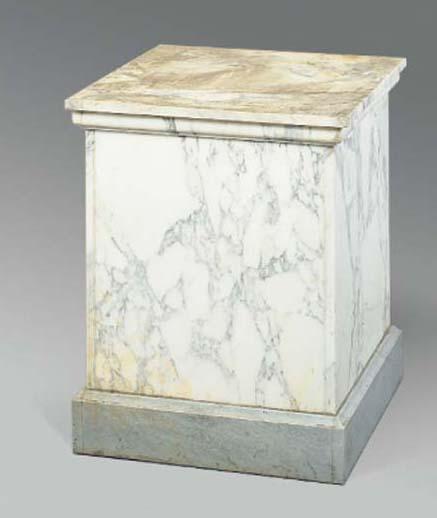 A white marble pedestal base