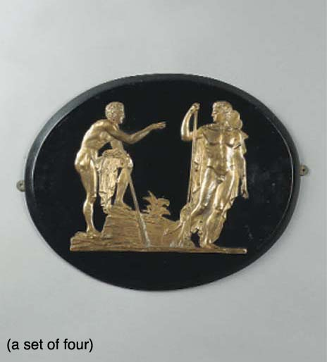 A set of four low relief elect
