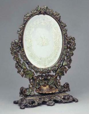 A Victorian cast iron toilet m