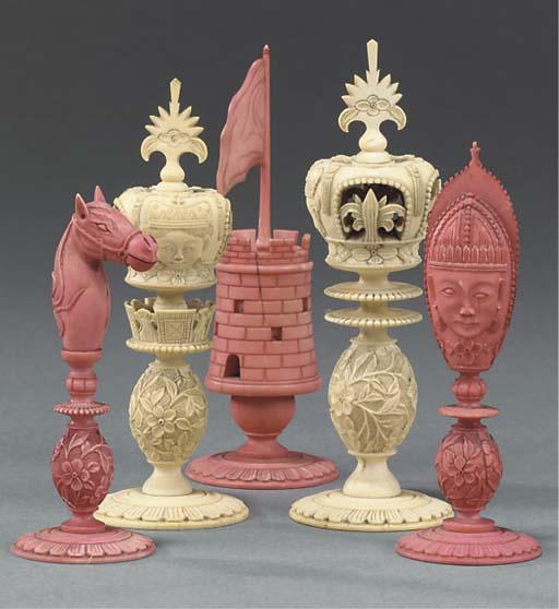 A part set of Burmese carved i