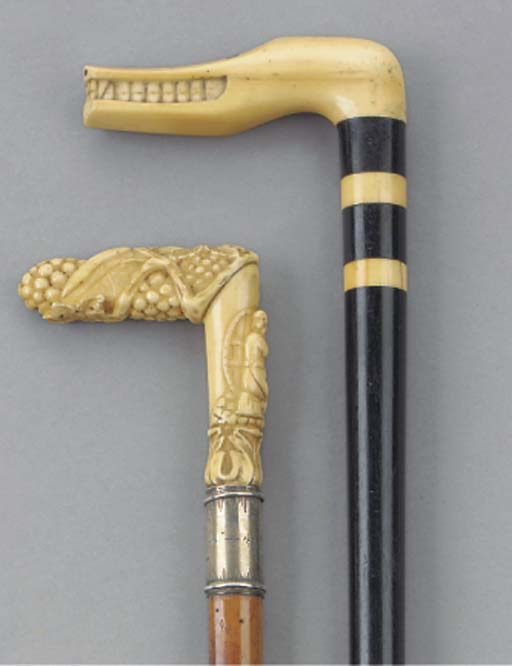 A Continental ivory mounted ma