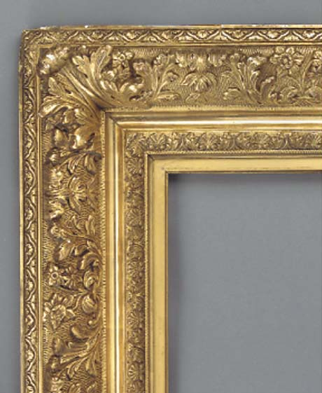 A French composite gilded fram