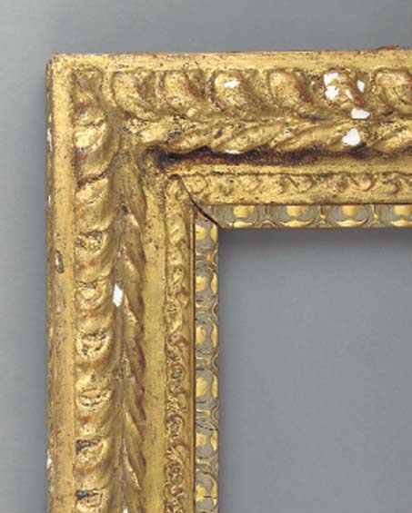 Two gilded composition frames