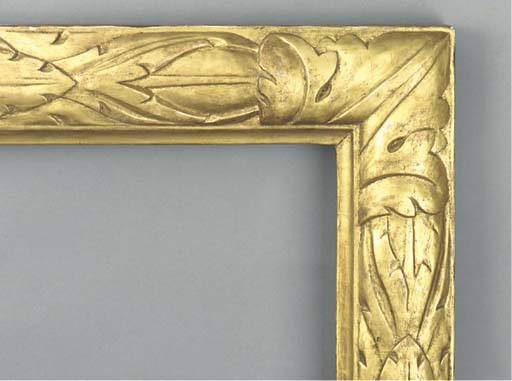 A carved and gilded compositio