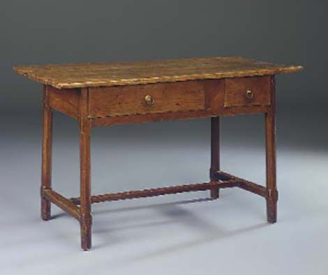A FRENCH CHERRYWOOD SIDE TABLE