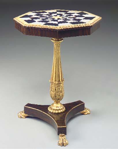 A PAIR OF ROSEWOOD GILTWOOD MA