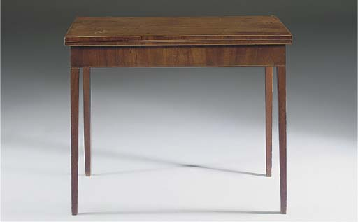 A MAHOGANY TEA TABLE