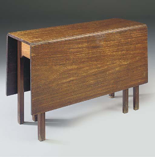 A MAHOGANY DROP-LEAF TABLE