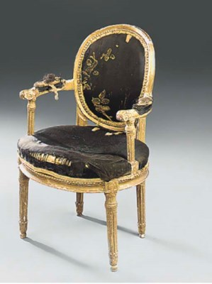 A FRENCH GILTWOOD AND GESSO FA
