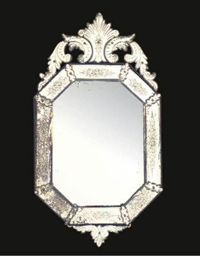 A VENETIAN GLASS MIRROR