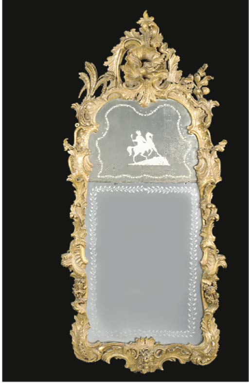 A DUTCH GILTWOOD AND GESSO WAL