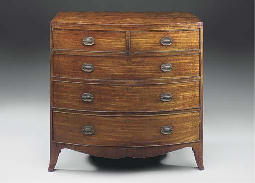 A mahogany and ebonised bowfro