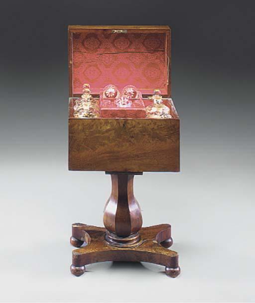 A William IV mahogany decanter