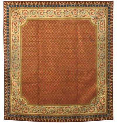 An antique Savonnerie carpet,